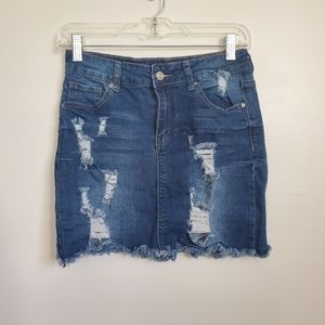 🖤4/30🖤WAX Jean Distressed Skirt